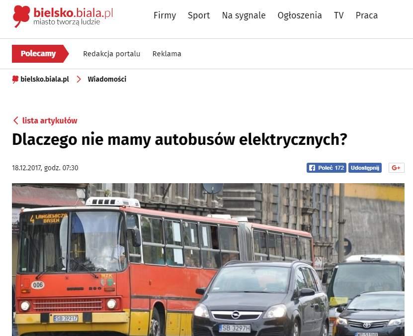 Dlaczego nie mamy autobusów elektrycznych?