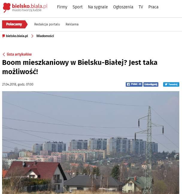 Boom mieszkaniowy w Bielsku-Białej? Jest taka możliwość!